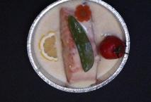 Darne de saumon à la fondue de poireau