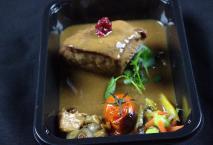 Emincé de chevreuil sauce poivrade