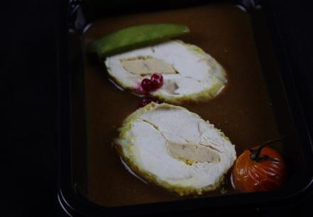 Rotî de dinde aux fruits des bois