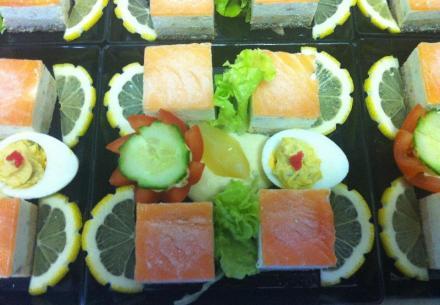 Bavarois de saumon sauce belle Hélène